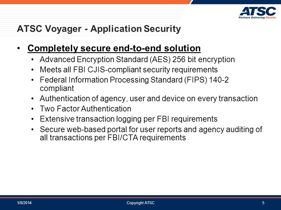 ATSC Voyager - Application Security