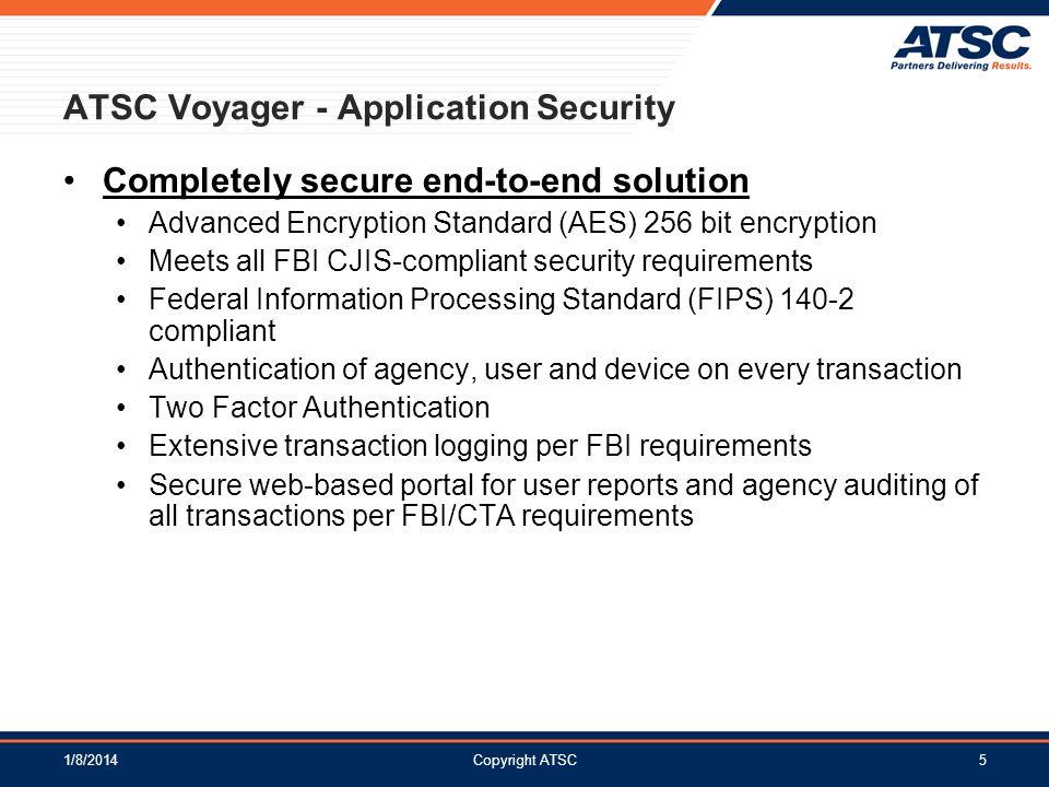 ATSC Voyager - Application Security