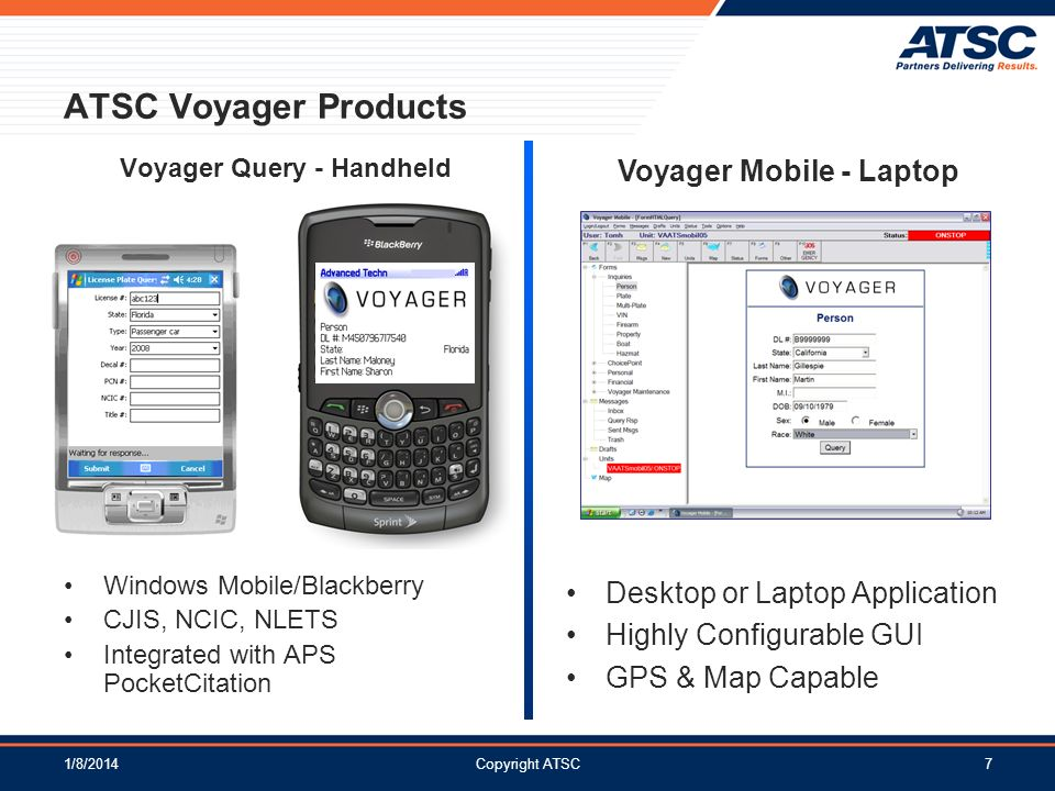 Voyager Query - Handheld Voyager Mobile - Laptop