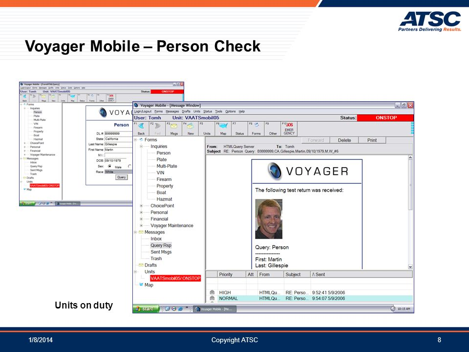 Voyager Mobile – Person Check