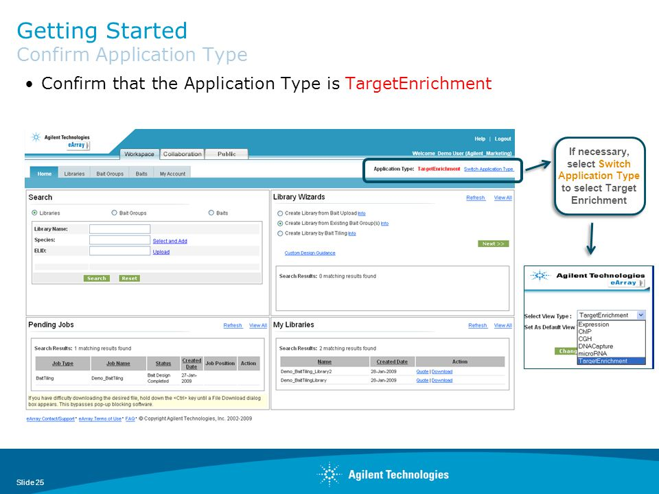 Getting Started Confirm Application Type