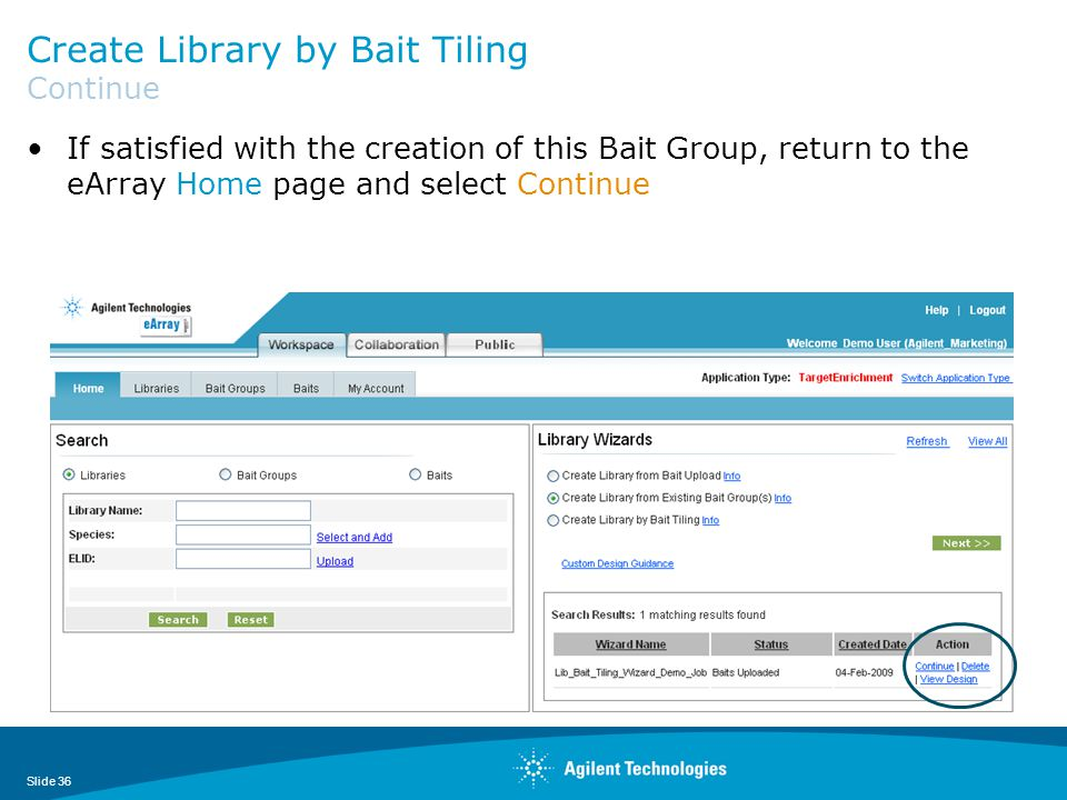 Create Library by Bait Tiling Continue