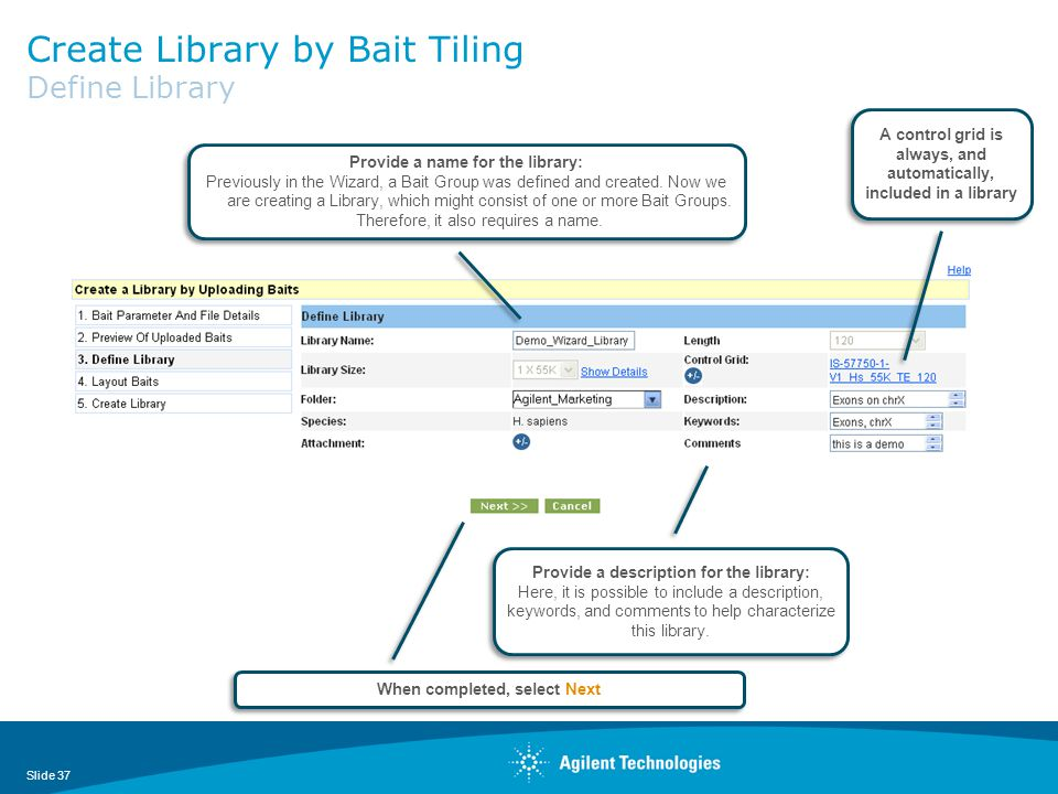 Create Library by Bait Tiling Define Library