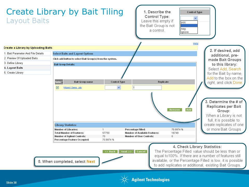 Create Library by Bait Tiling Layout Baits