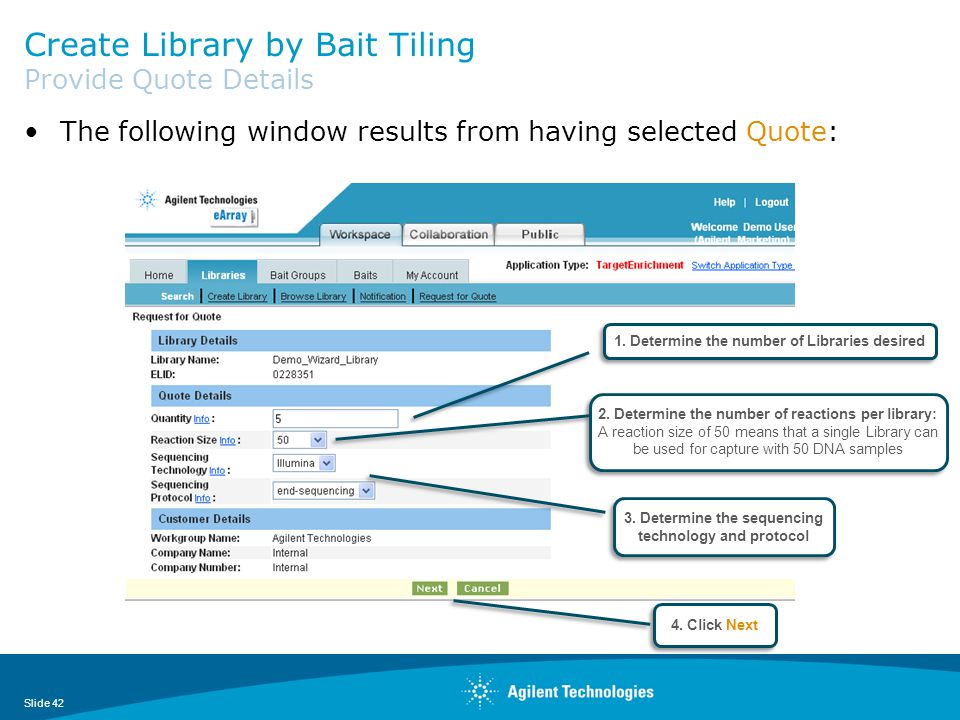 Create Library by Bait Tiling Provide Quote Details
