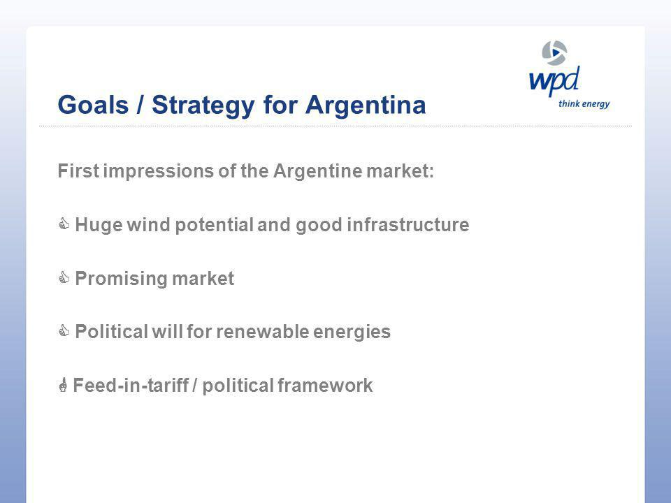Goals / Strategy for Argentina