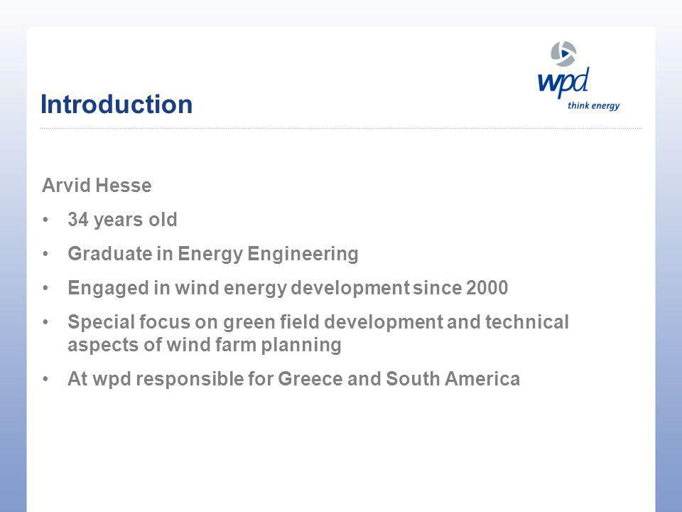 Introduction Arvid Hesse 34 years old Graduate in Energy Engineering