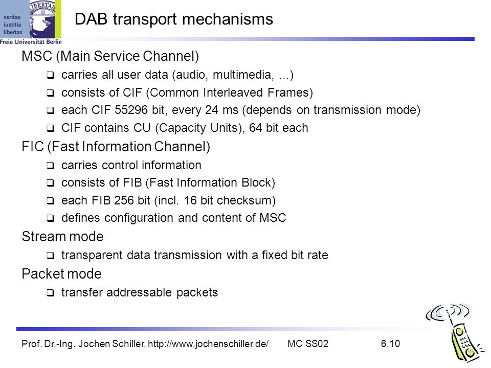 DAB transport mechanisms