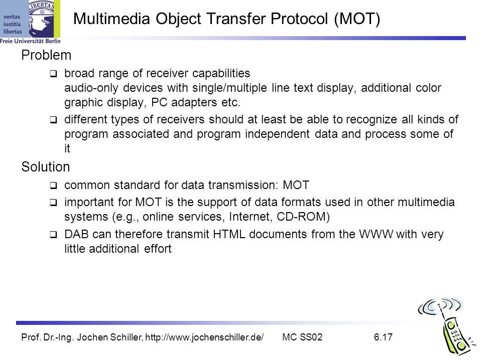 Multimedia Object Transfer Protocol (MOT)