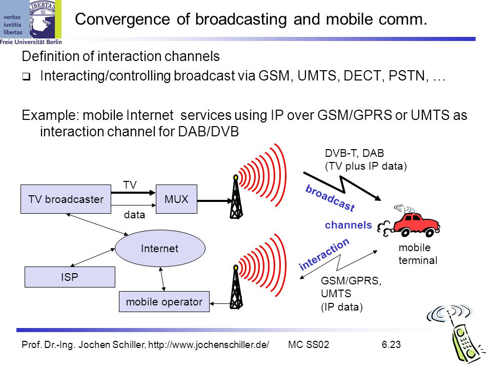Convergence of broadcasting and mobile comm.
