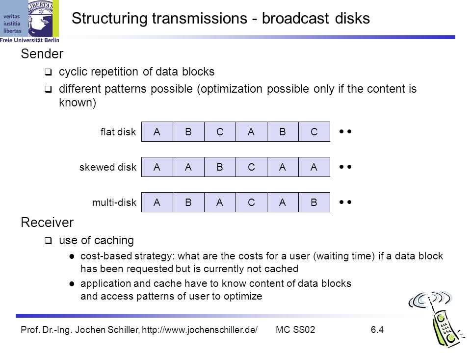 Structuring transmissions - broadcast disks