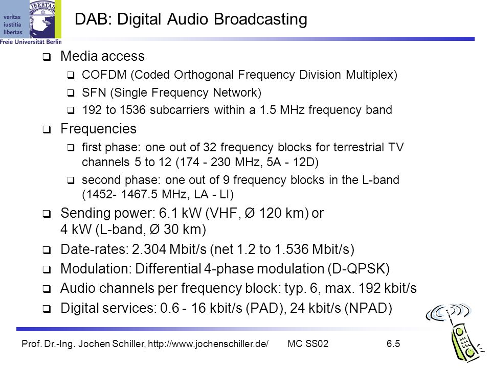 DAB: Digital Audio Broadcasting