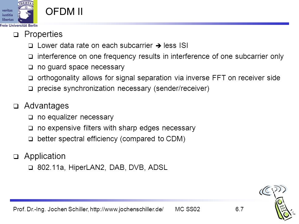 OFDM II Properties Advantages Application