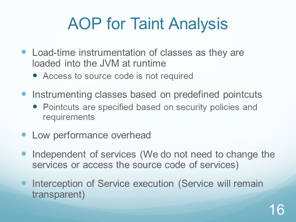 AOP for Taint Analysis