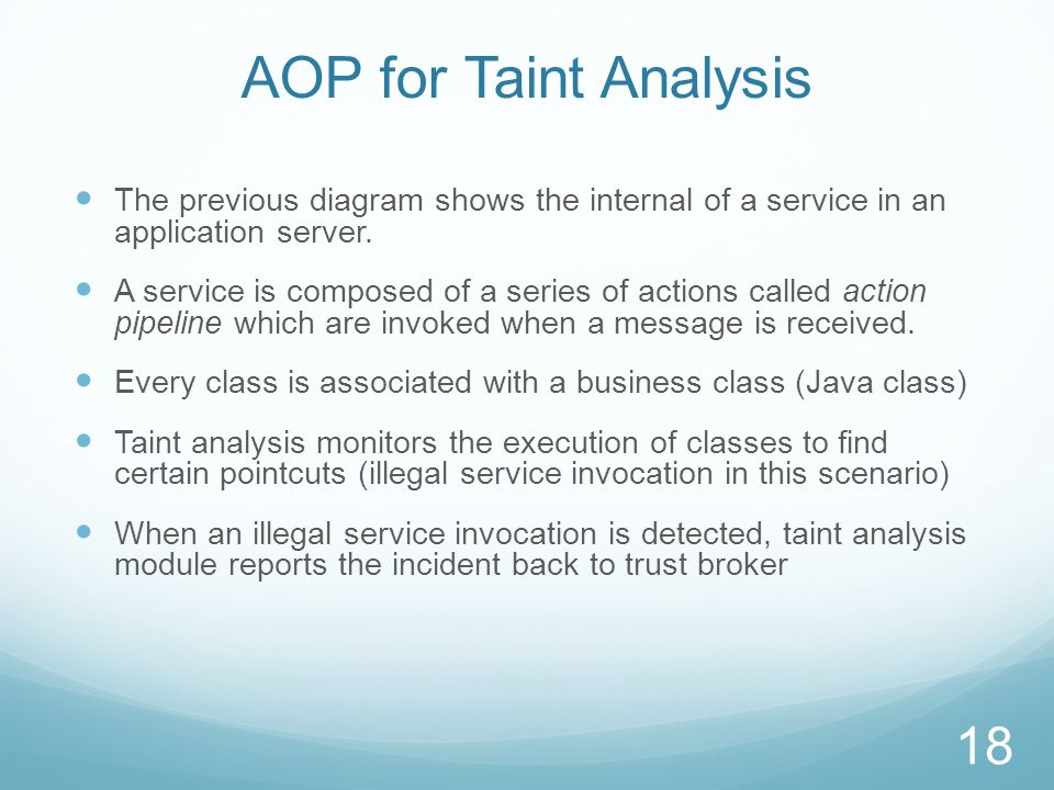Interaction of Taint Analysis and Trust Broker