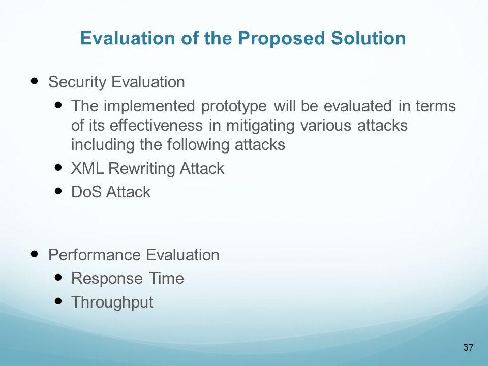 SOA Security Evaluation