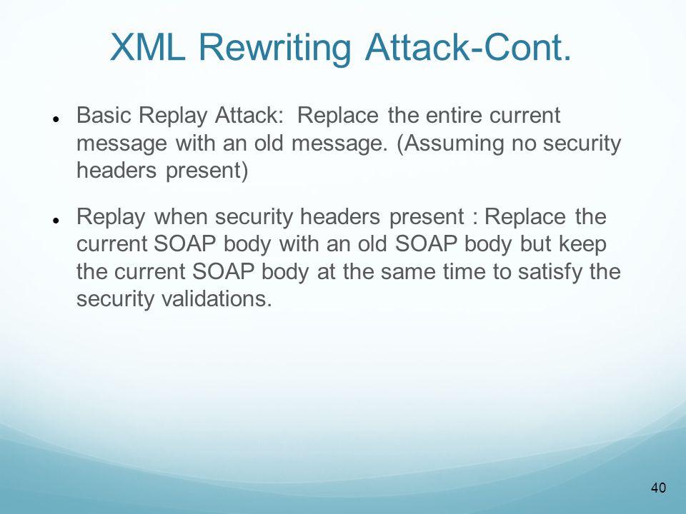 XML Rewriting (Replay Attack)