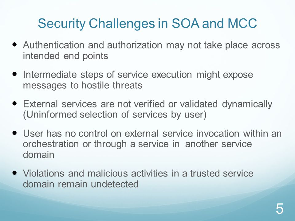 End to End Security Architecture