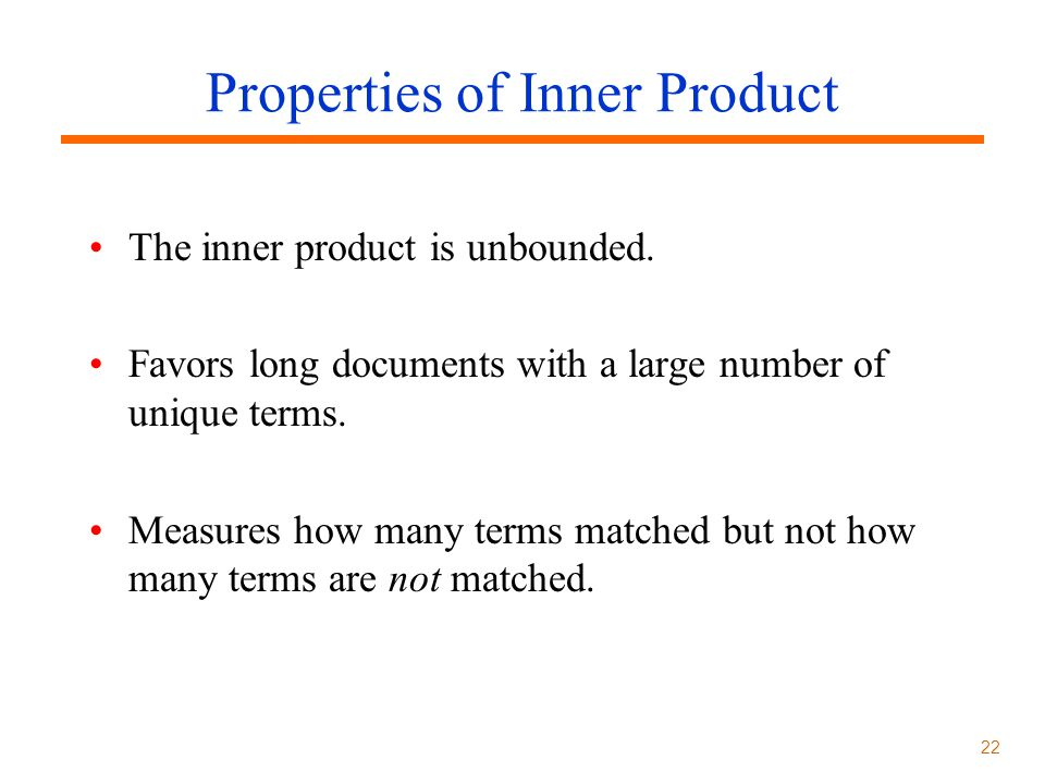 Properties of Inner Product