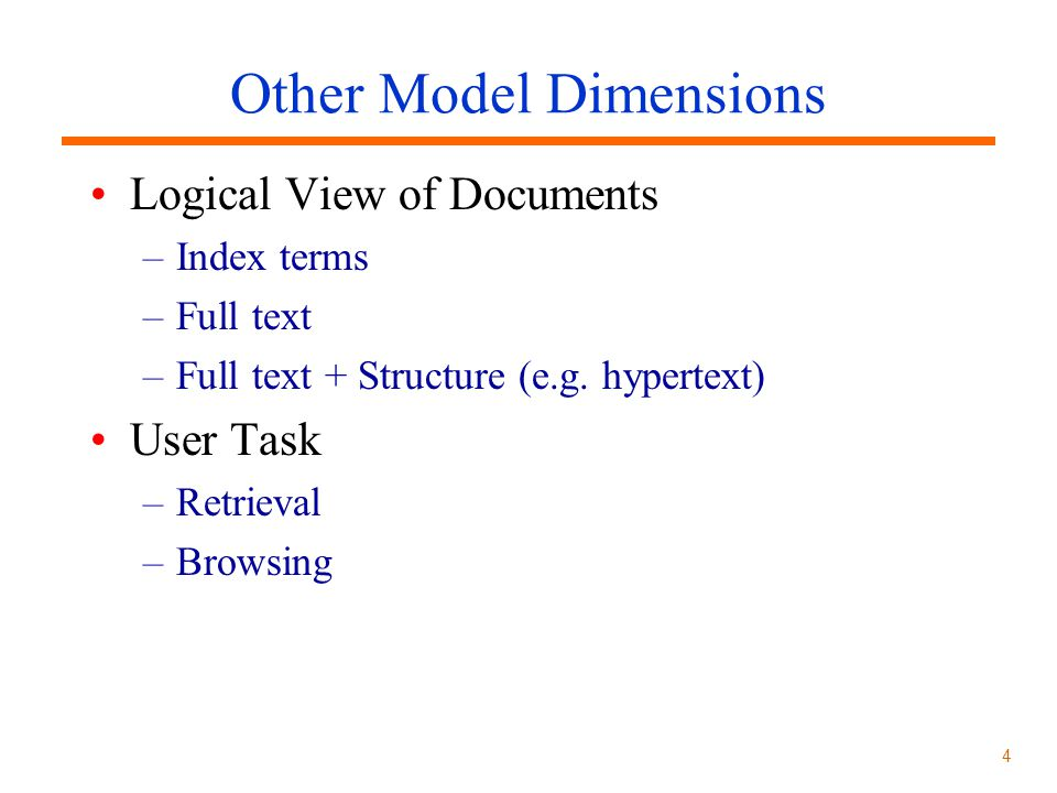 Other Model Dimensions