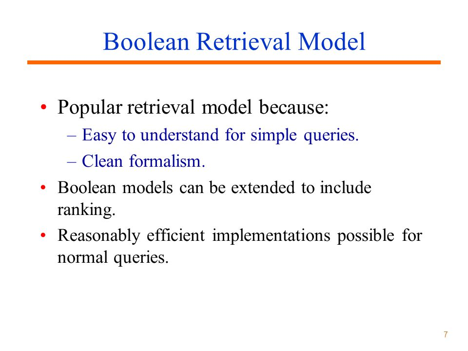 Boolean Retrieval Model