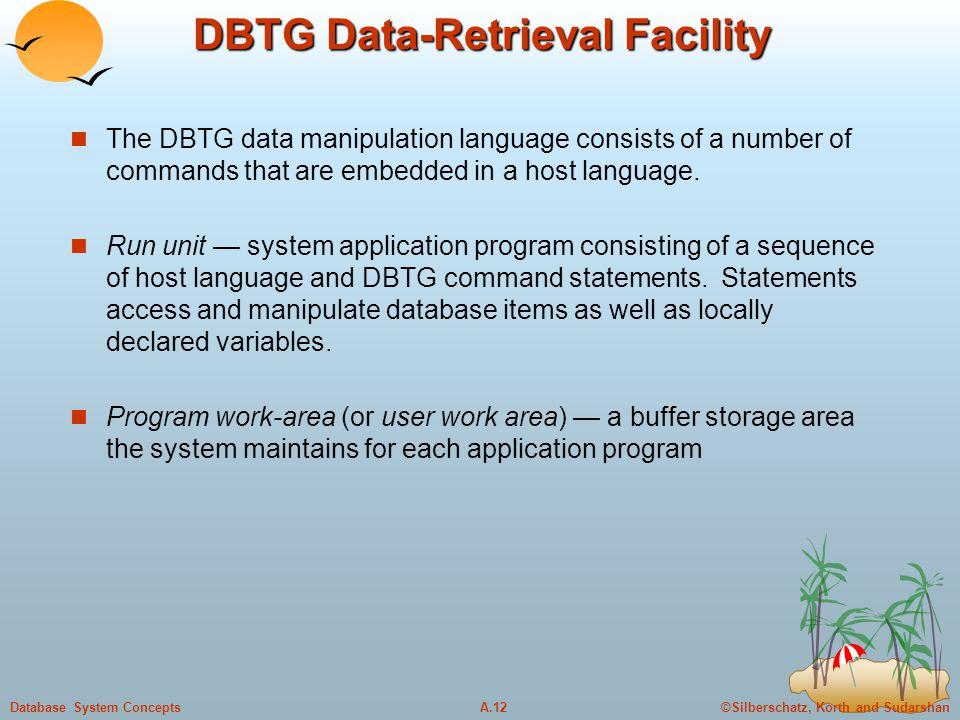 DBTG Data-Retrieval Facility
