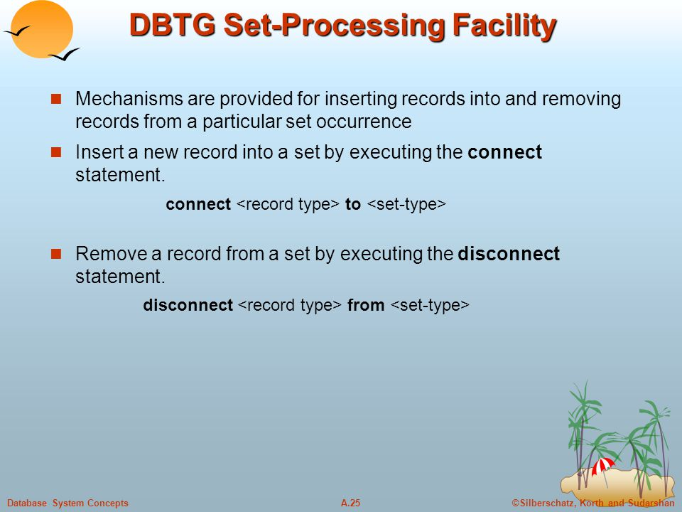 DBTG Set-Processing Facility