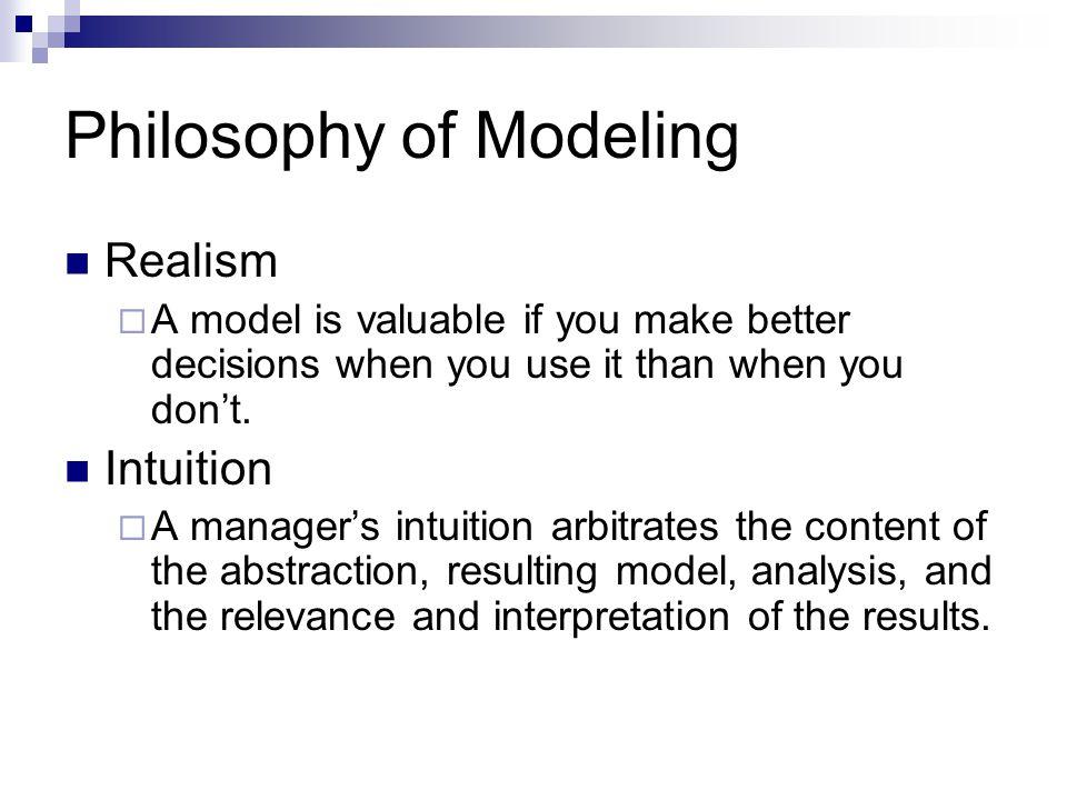 Philosophy of Modeling