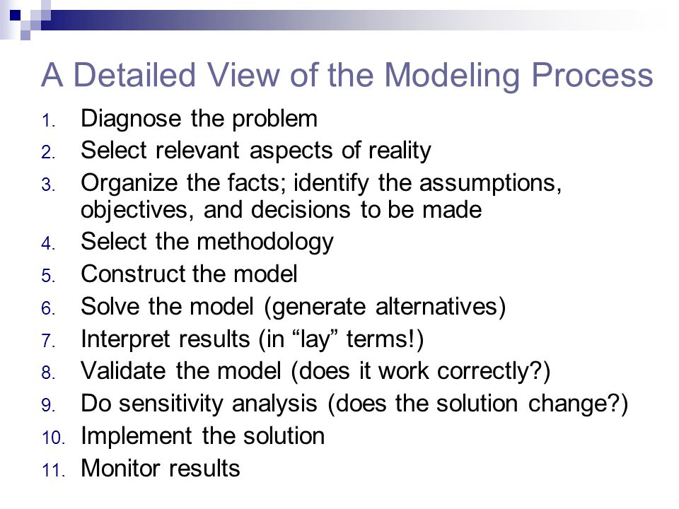 A Detailed View of the Modeling Process