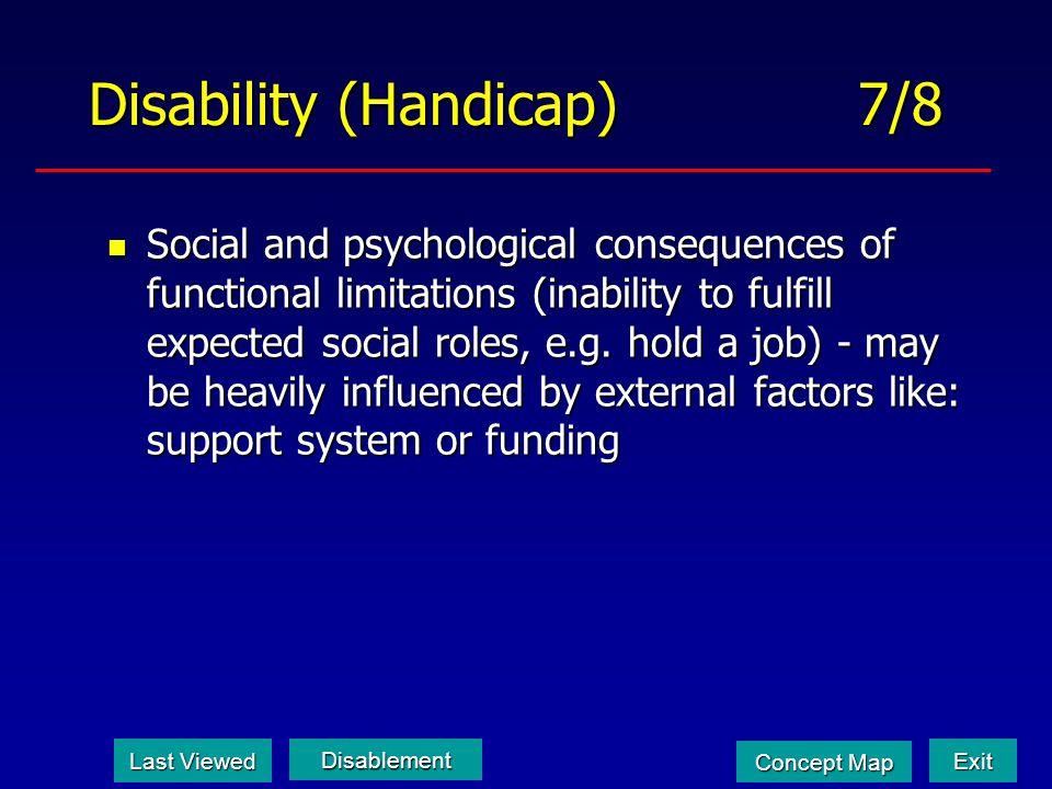 Disability (Handicap) 7/8