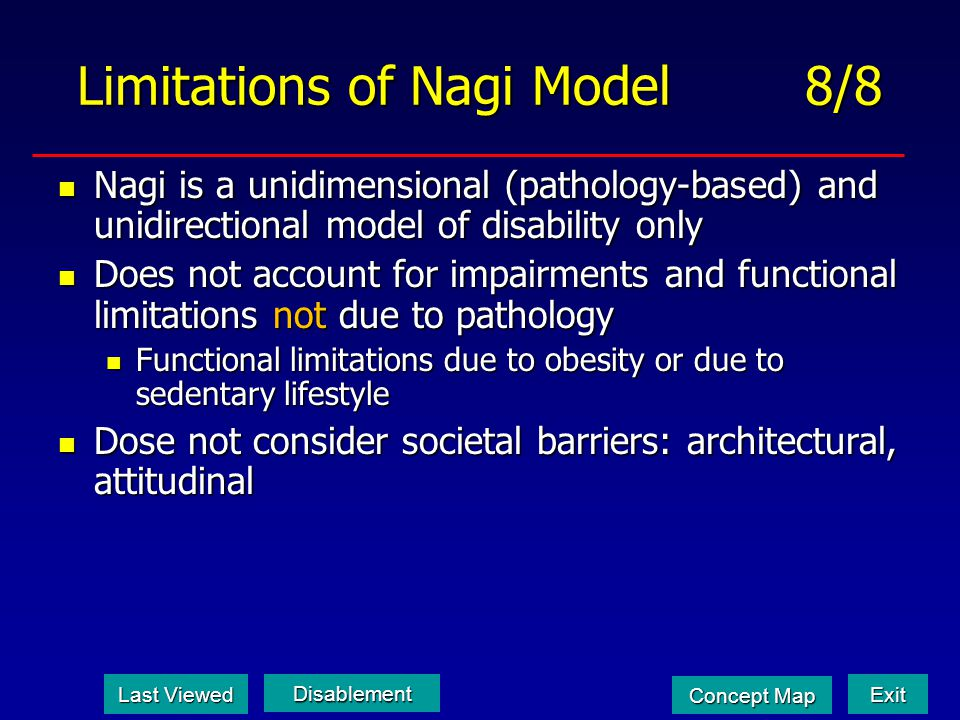 Limitations of Nagi Model 8/8