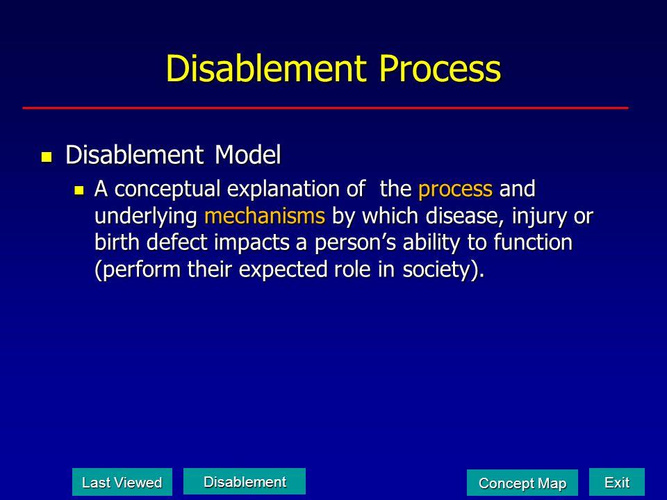 Disablement Process Disablement Model