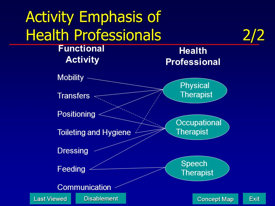 Activity Emphasis of Health Professionals 2/2