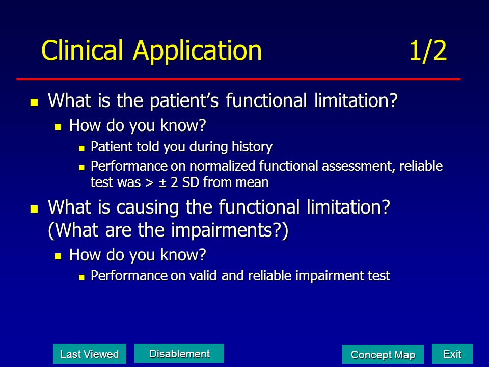 Clinical Application 1/2