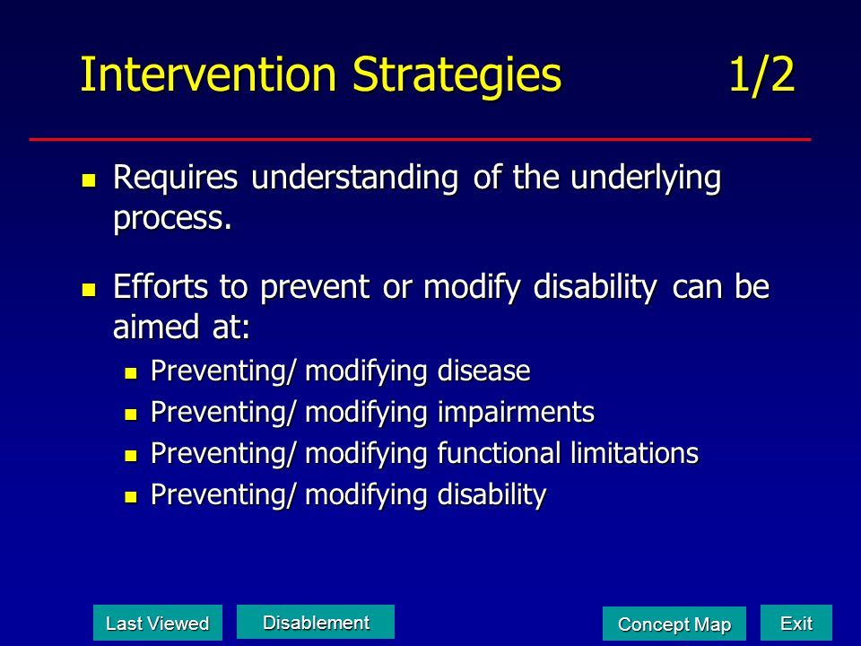 Intervention Strategies 1/2