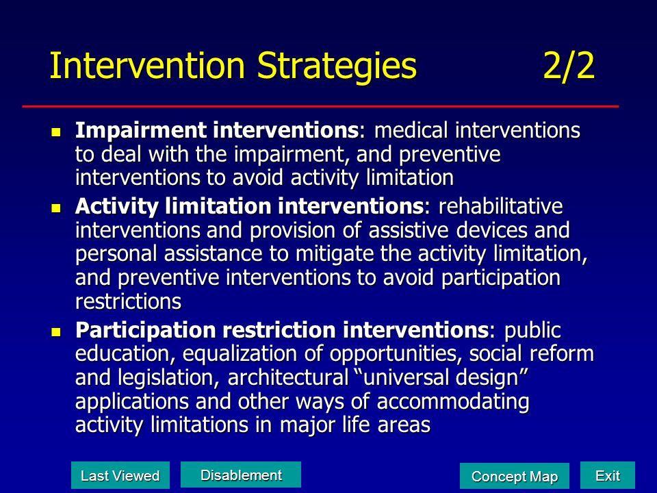 Intervention Strategies 2/2