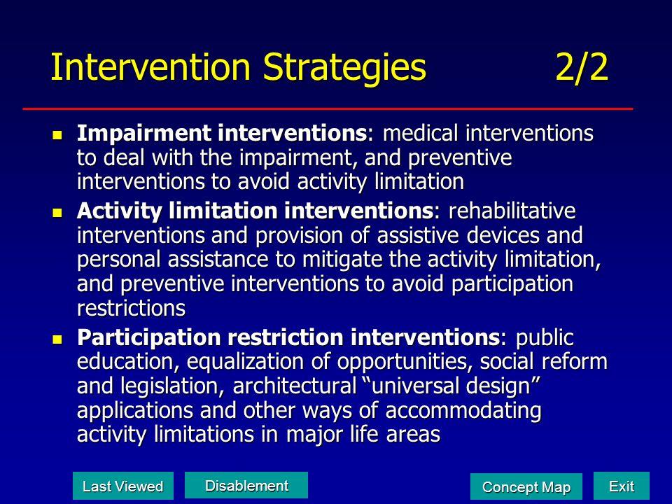 Intervention Strategies 2/2