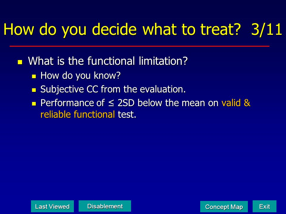 How do you decide what to treat 3/11