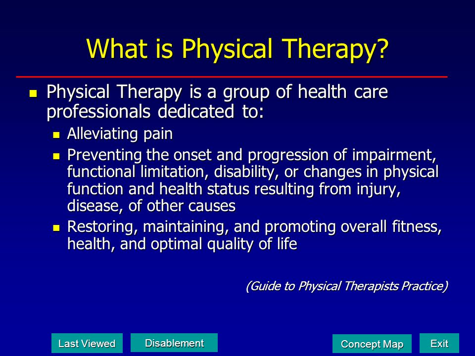 What is Physical Therapy
