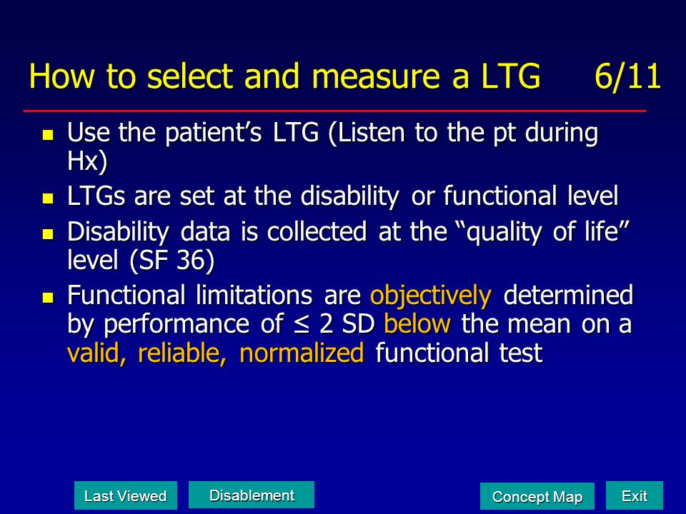 How to select and measure a LTG 6/11