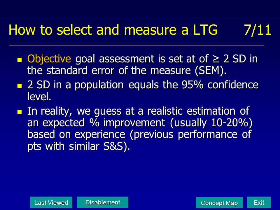 How to select and measure a LTG 7/11