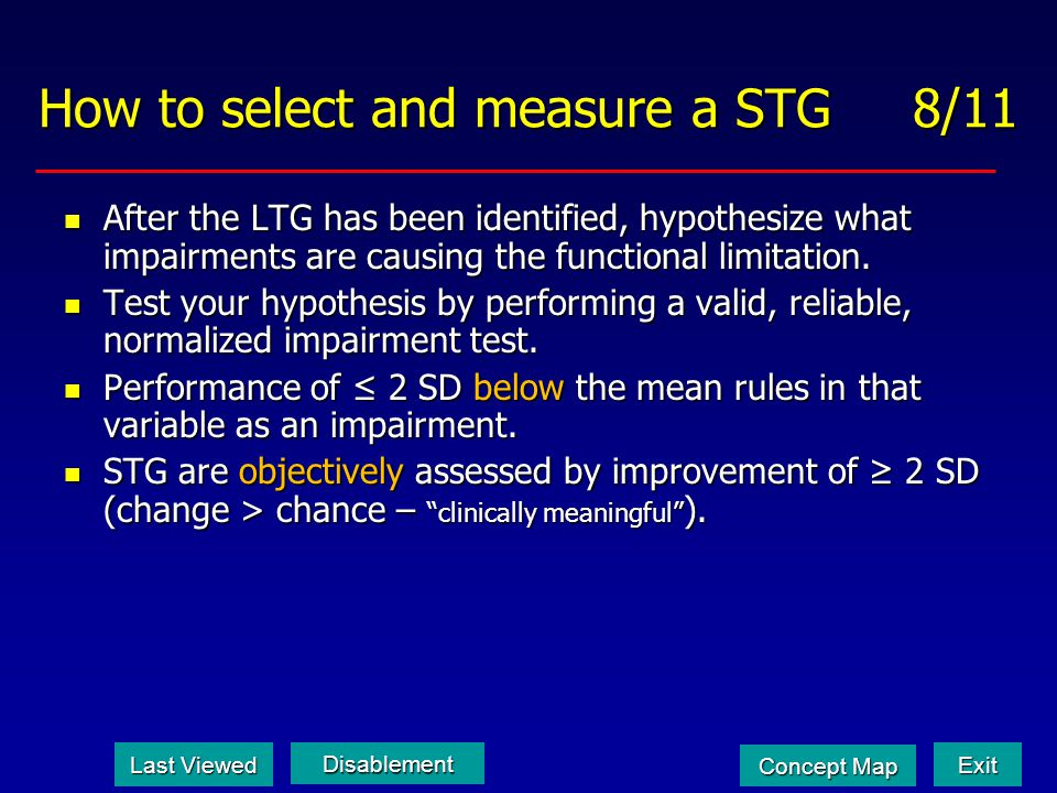 How to select and measure a STG 8/11