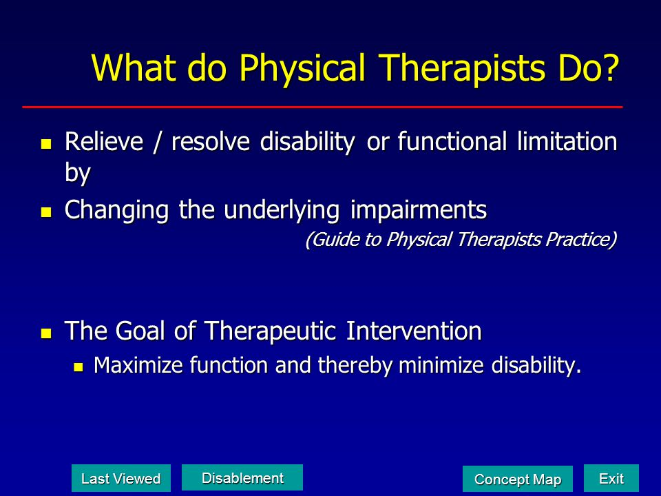 What do Physical Therapists Do