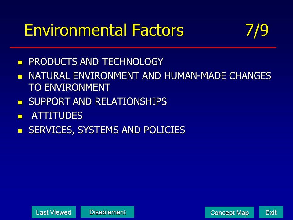 Environmental Factors 7/9