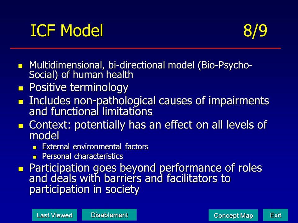 ICF Model 8/9 Positive terminology