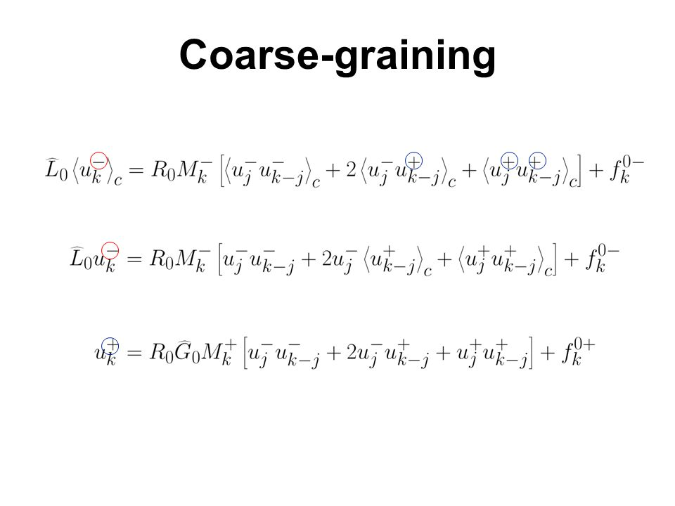 Coarse-graining