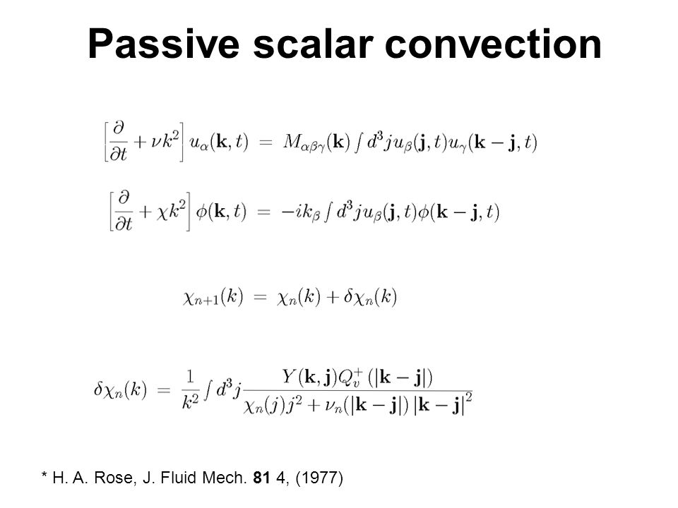 Passive scalar convection