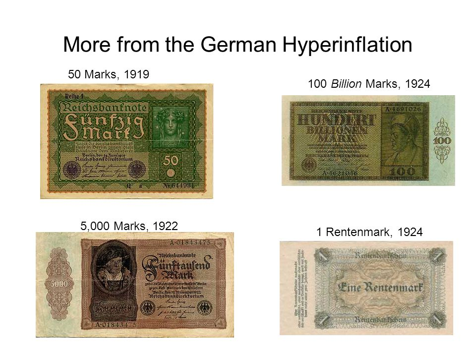 More from the German Hyperinflation
