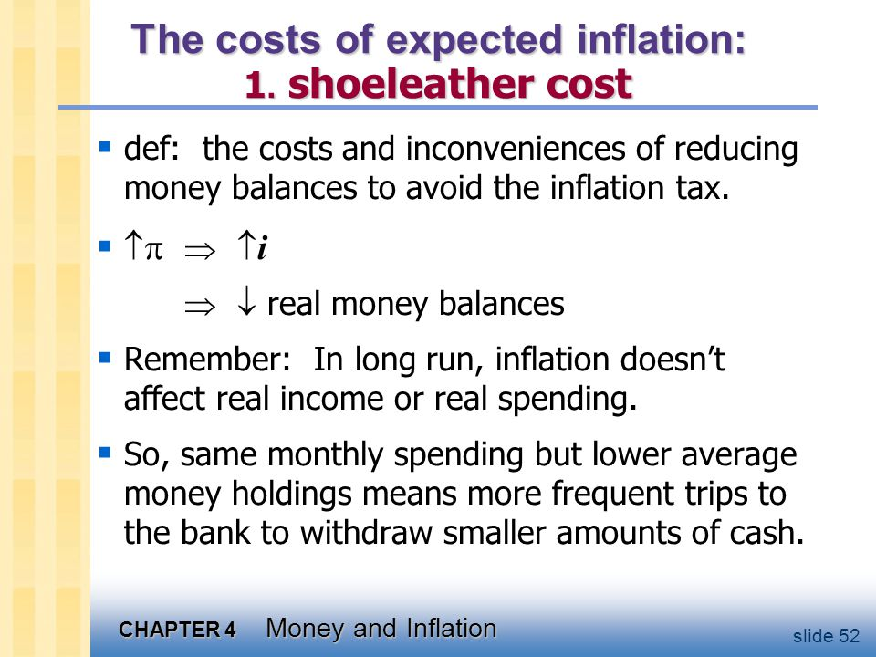 The costs of expected inflation: 2. menu costs