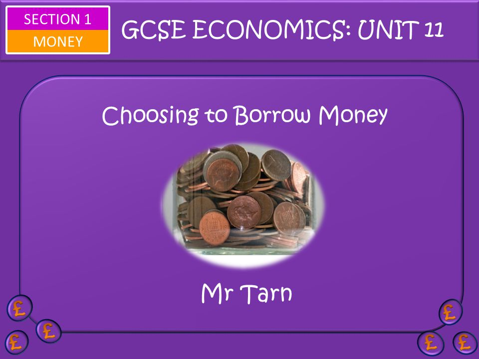 Choosing to Borrow Money